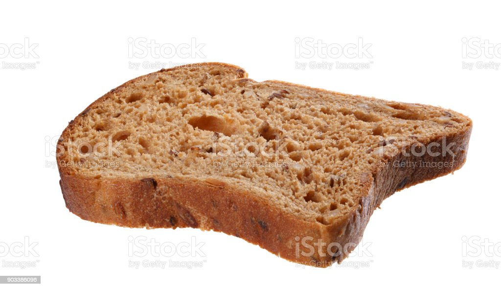Wholewheat bread slice stock photo