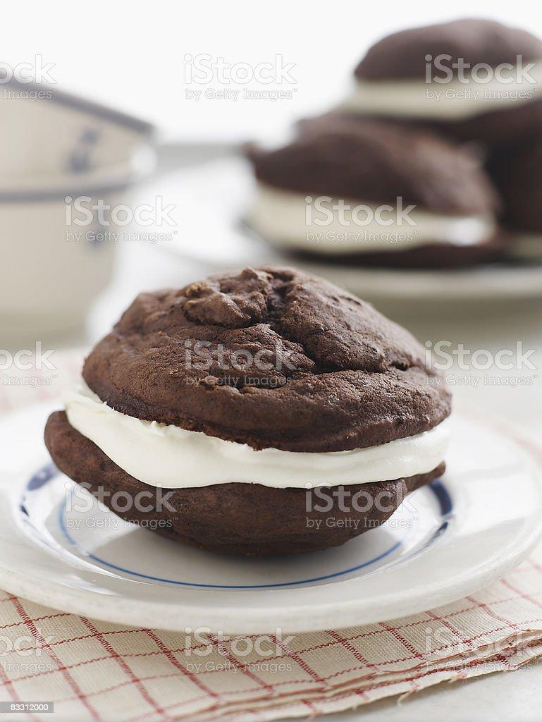 Torta Whoopie foto stock royalty-free