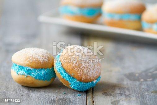 istock Whoopie pies on rustic background horizontal 166471433
