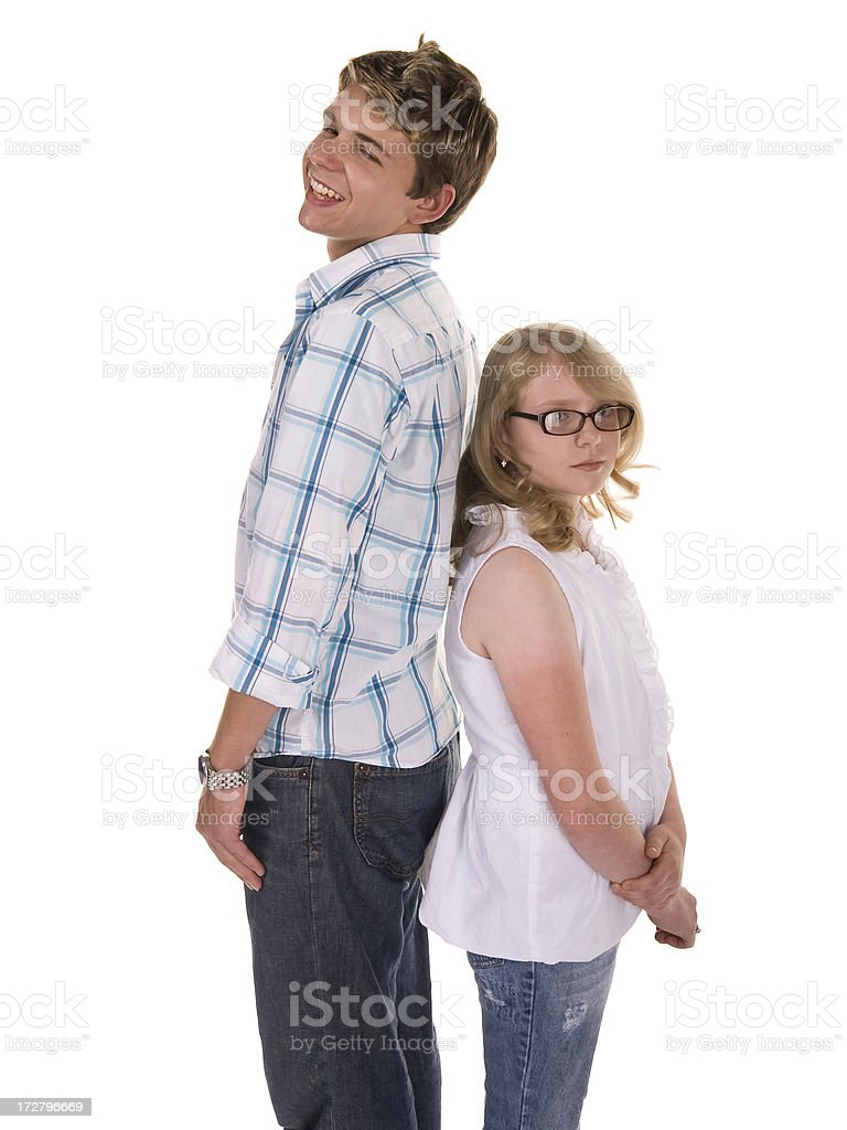 Who's Taller royalty-free stock photo