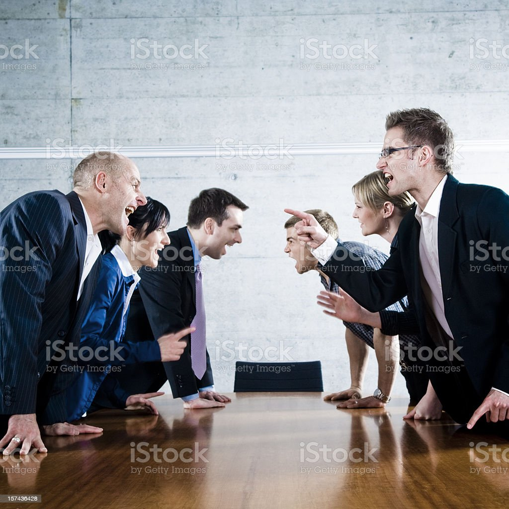 Who's the boss? stock photo