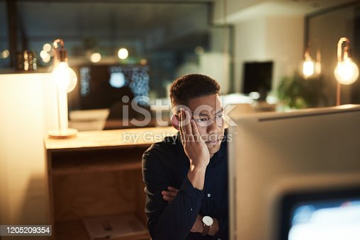 913327640 istock photo Why did I agree to work late? 1205209354