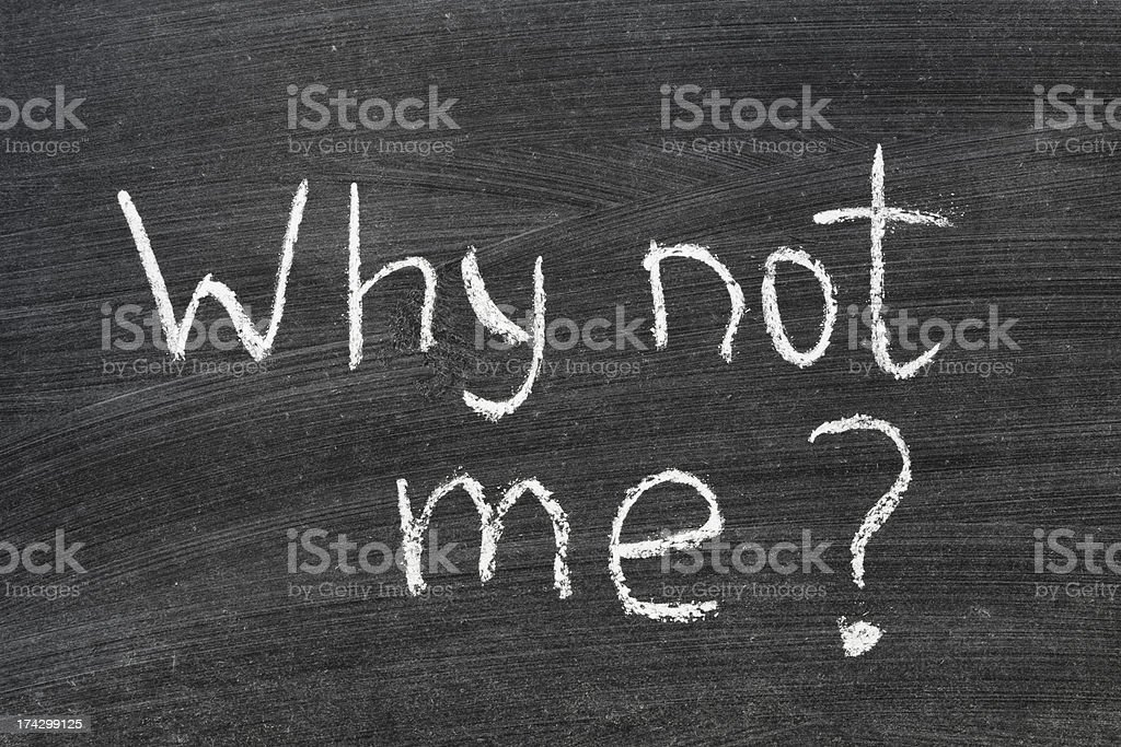 why not me royalty-free stock photo