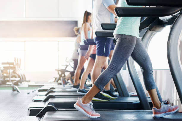 why walk when you can run the route to fitness - health club stock photos and pictures