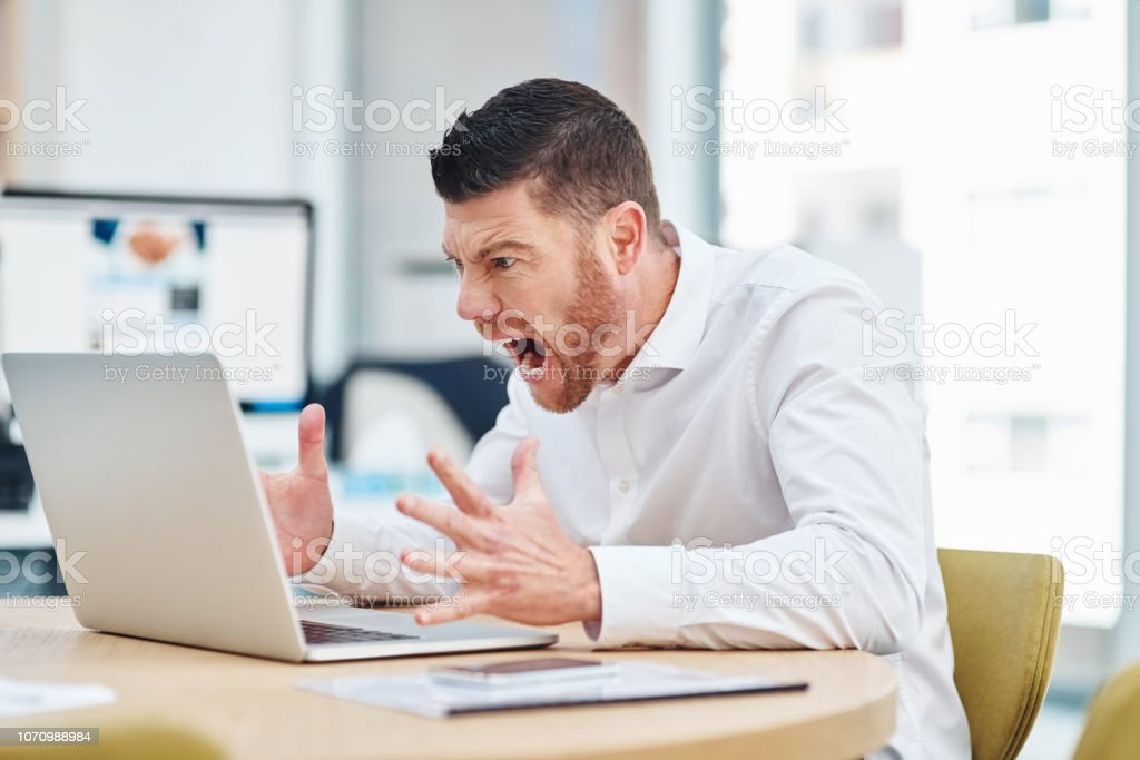 Why won't you work! stock photo