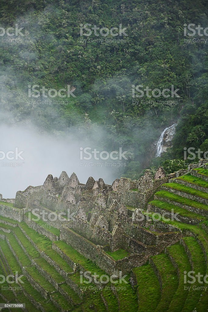 Wiñay Wayna ruin near Machu Picchu stock photo