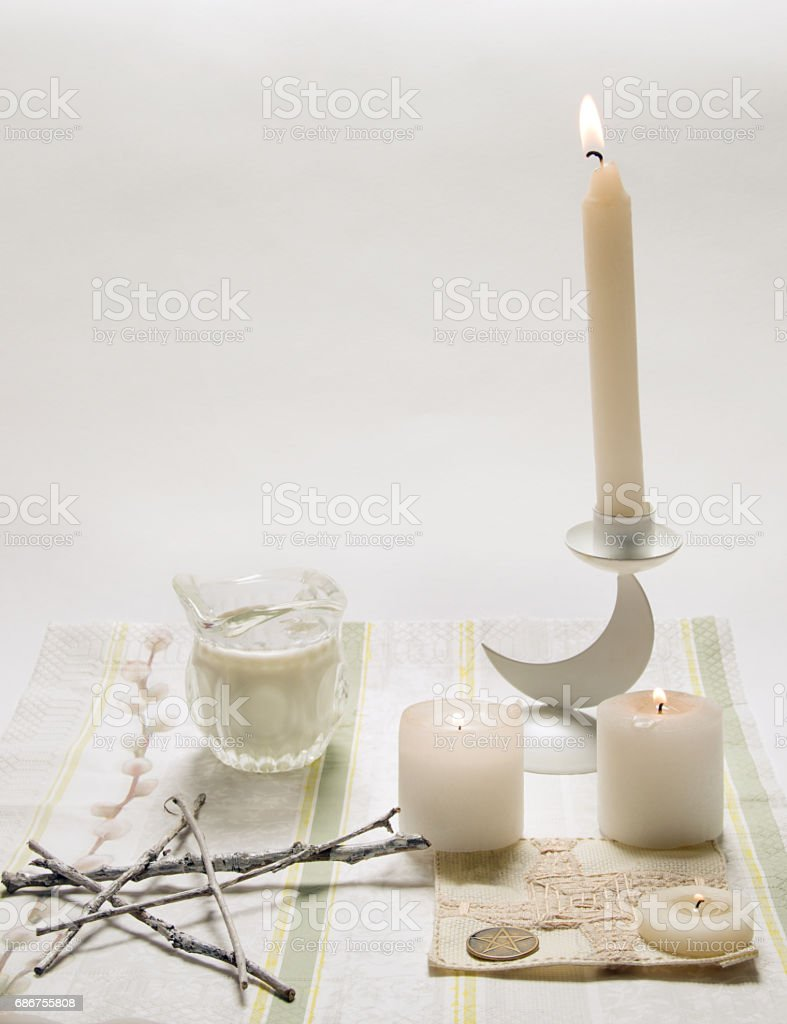 Wiccan Imbolk picture stock photo