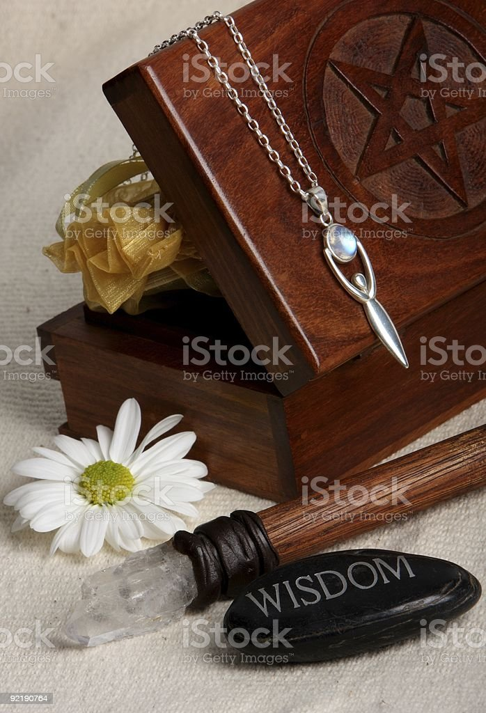 Wiccan Objects royalty-free stock photo