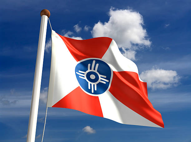 Wichita City Flag stock photo