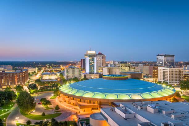 Wichita, Kansas, USA Downtown Skyline stock photo