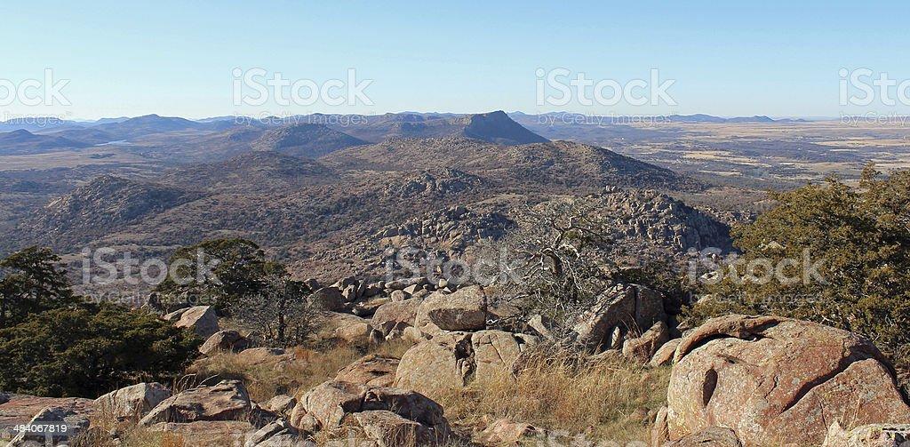Wichita Mountains - Mt. Scott stock photo