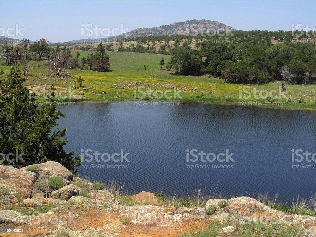 Wichita Mountains Wildlife Refuge stock photo