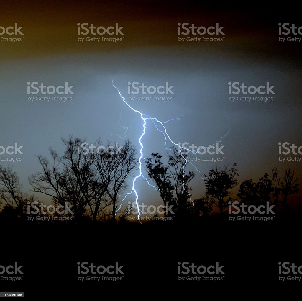 Wicked Lightning Strike royalty-free stock photo