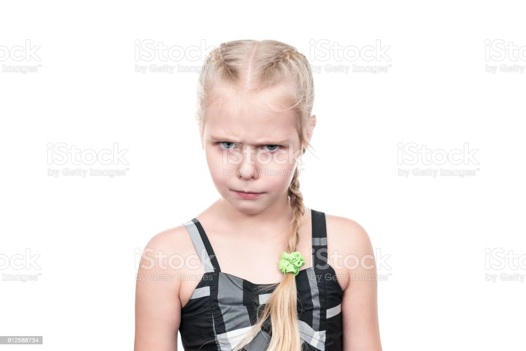 Wicked Little Girl Royalty Free Stock Photo