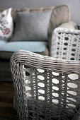 Wicker arm chair and sofa