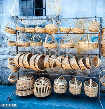 Wicker basket shop in Antakya, Turkey
