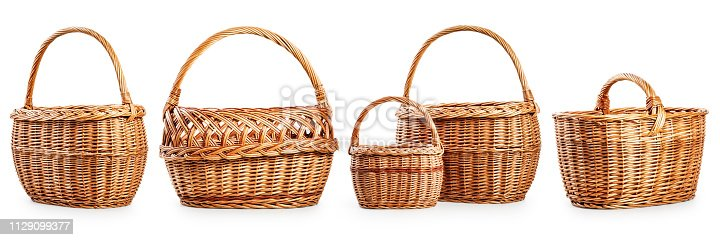 istock Wicker baskets eco packaging set 1129099377