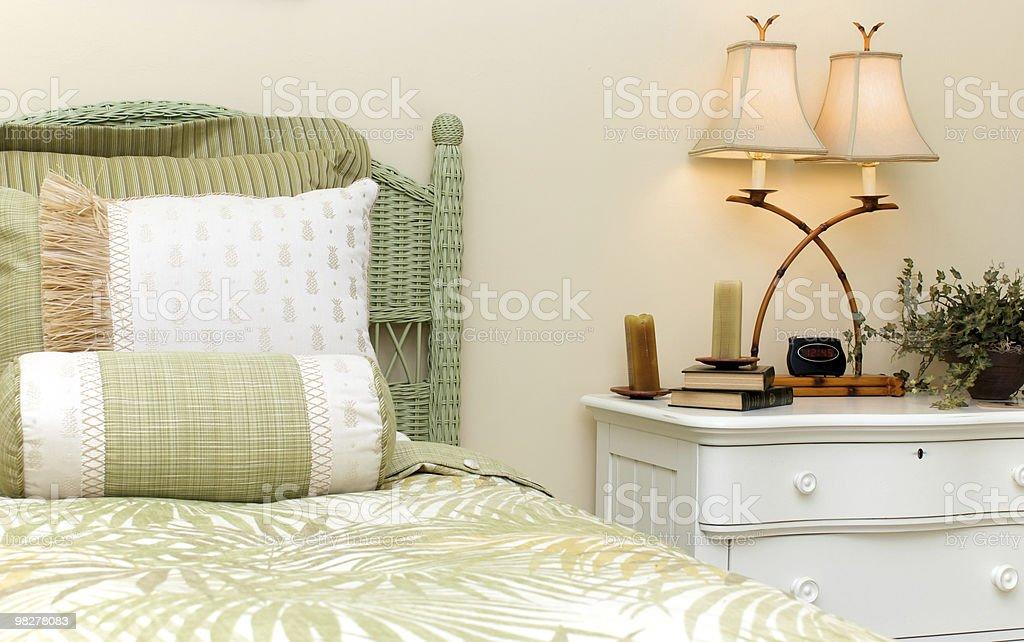 wicker bedroom royalty-free stock photo