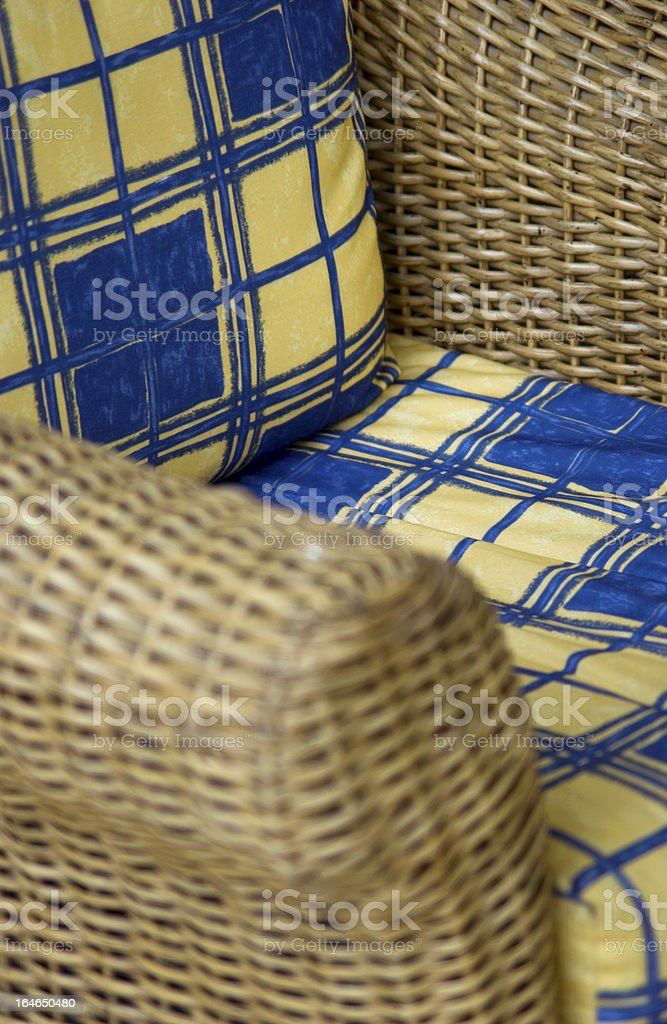 Wicker chair royalty-free stock photo