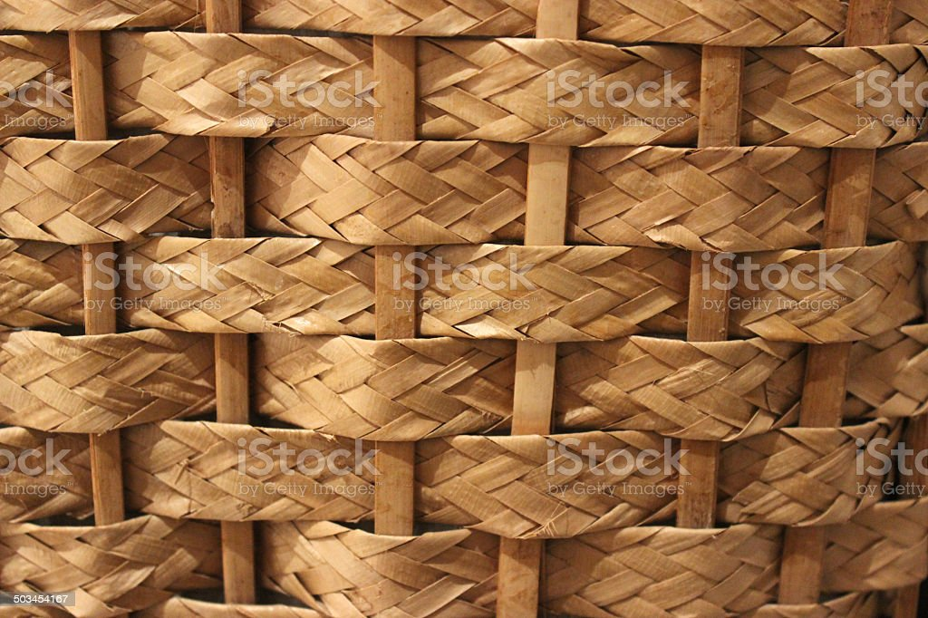 Wicker golden straw texture stock photo