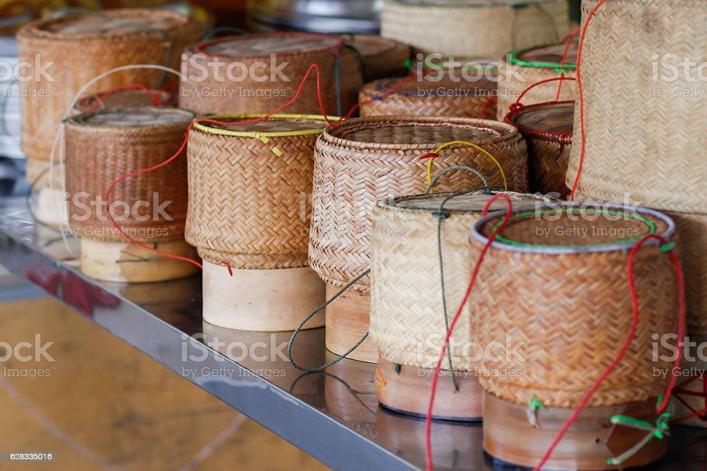 wicker rice stock photo