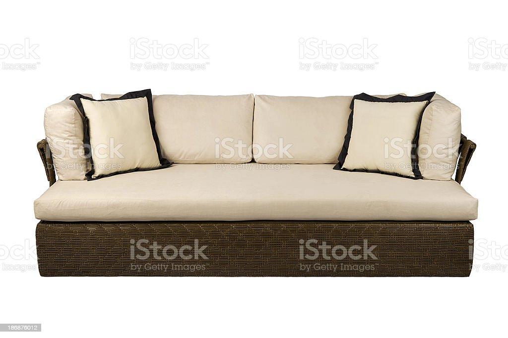 wicker sofa royalty-free stock photo
