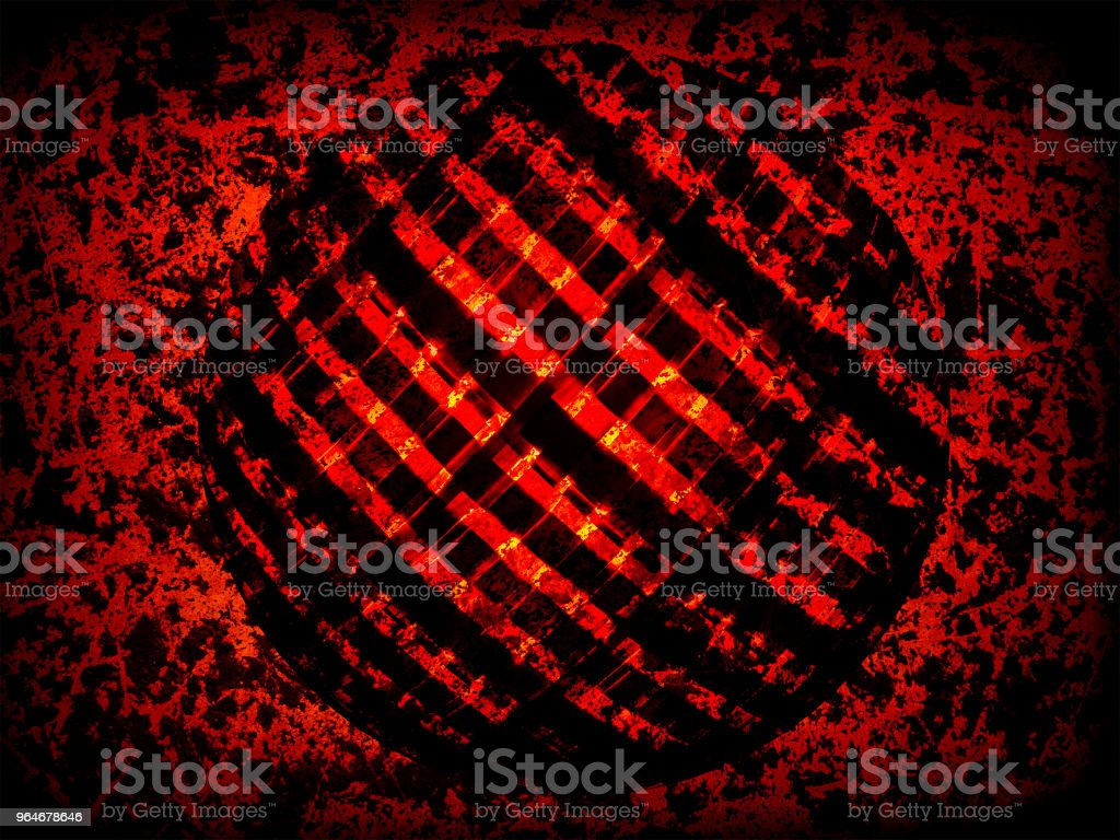 Wicker sphere on grunge background royalty-free stock photo