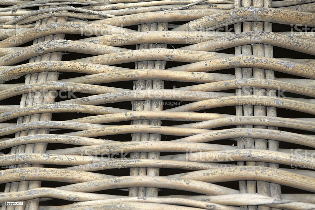 wicker weave of the fence royalty-free stock photo