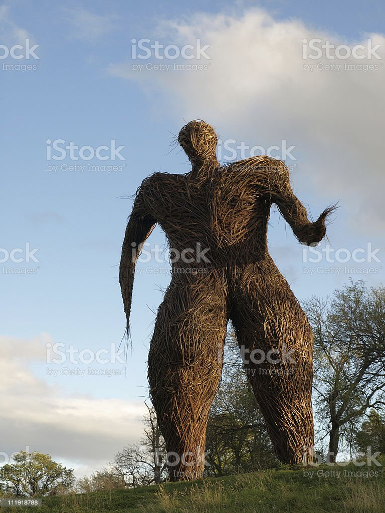 Wickerman at Archeolink Park, Scotland royalty-free stock photo