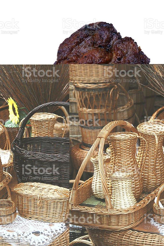 wickerwork royalty-free stock photo
