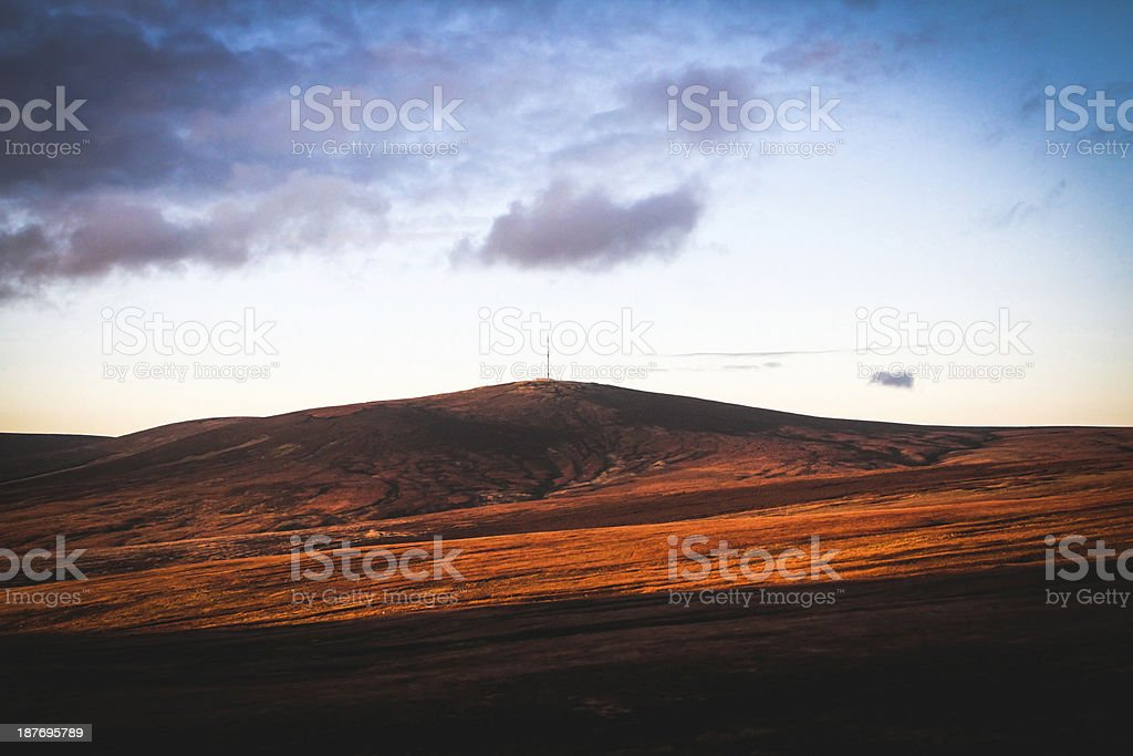 Wicklow Mountains view from Sally Gap, Ireland stock photo