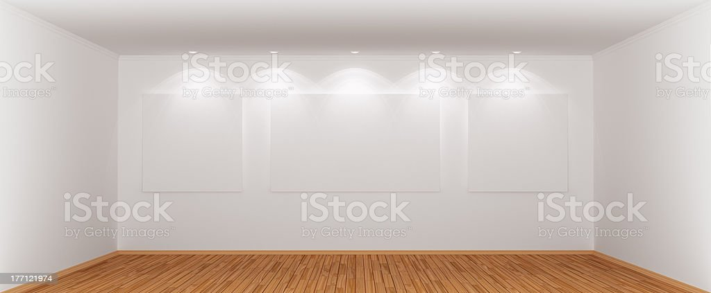Wide and spacious empty room stock photo