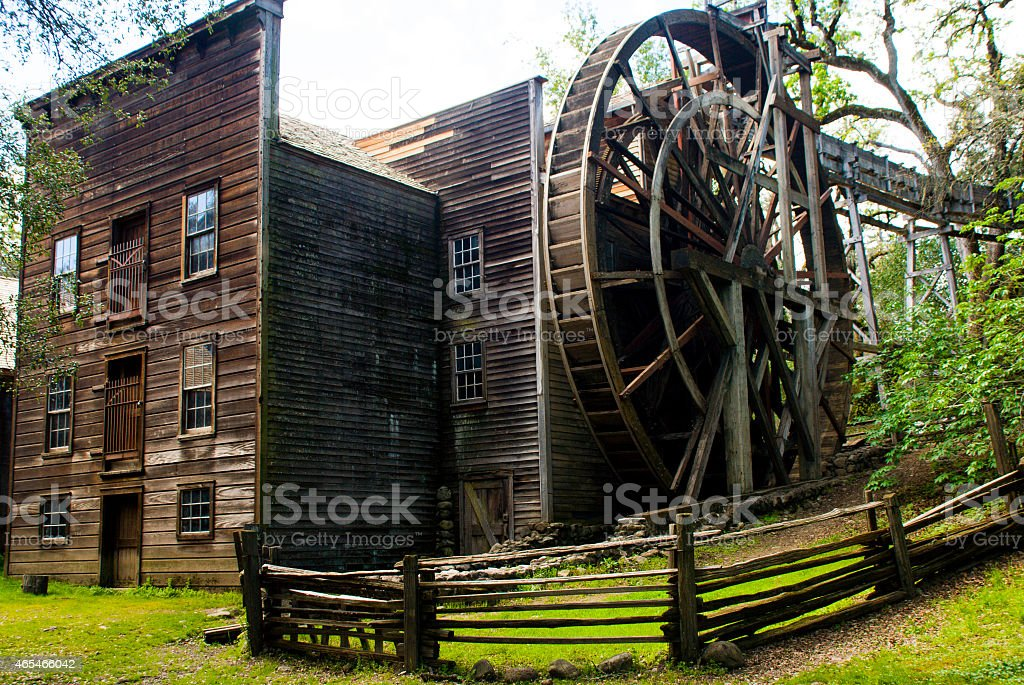 Wide angle Bale Historic Grist Mill Calistoga Napa County California stock photo