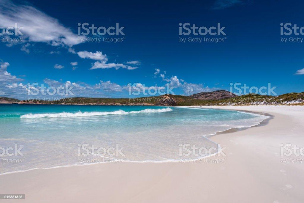 Wide Angle Beach Shot stock photo