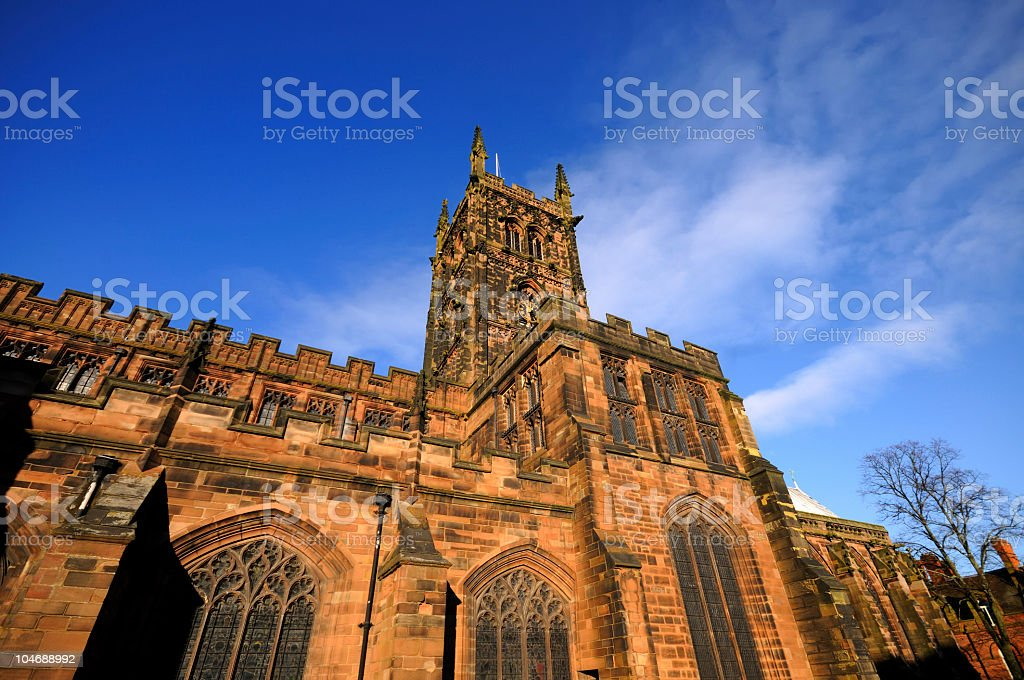 Wide Angle Church stock photo