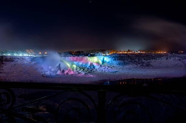 Best Winter Night At Niagara Falls Stock Photos Pictures