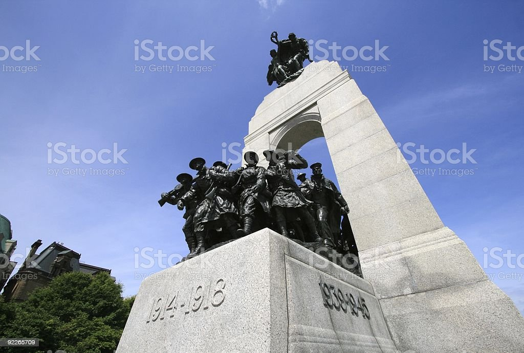 Wide angle of National War Memorial stock photo