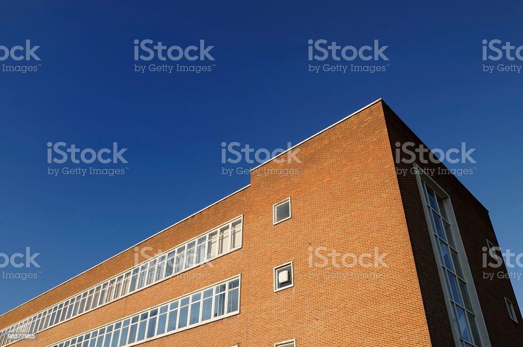 Wide Angle Office Building royalty-free stock photo