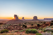 Sentinels in the Desert in Monument Valley in Arizona