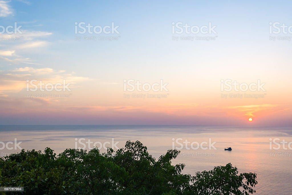 Wide angle seascape view Lizenzfreies stock-foto