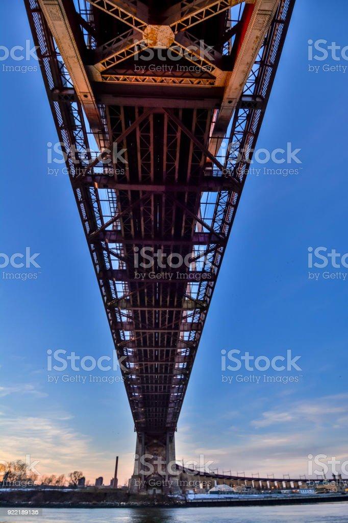 wide angle shot of a bridge stock photo