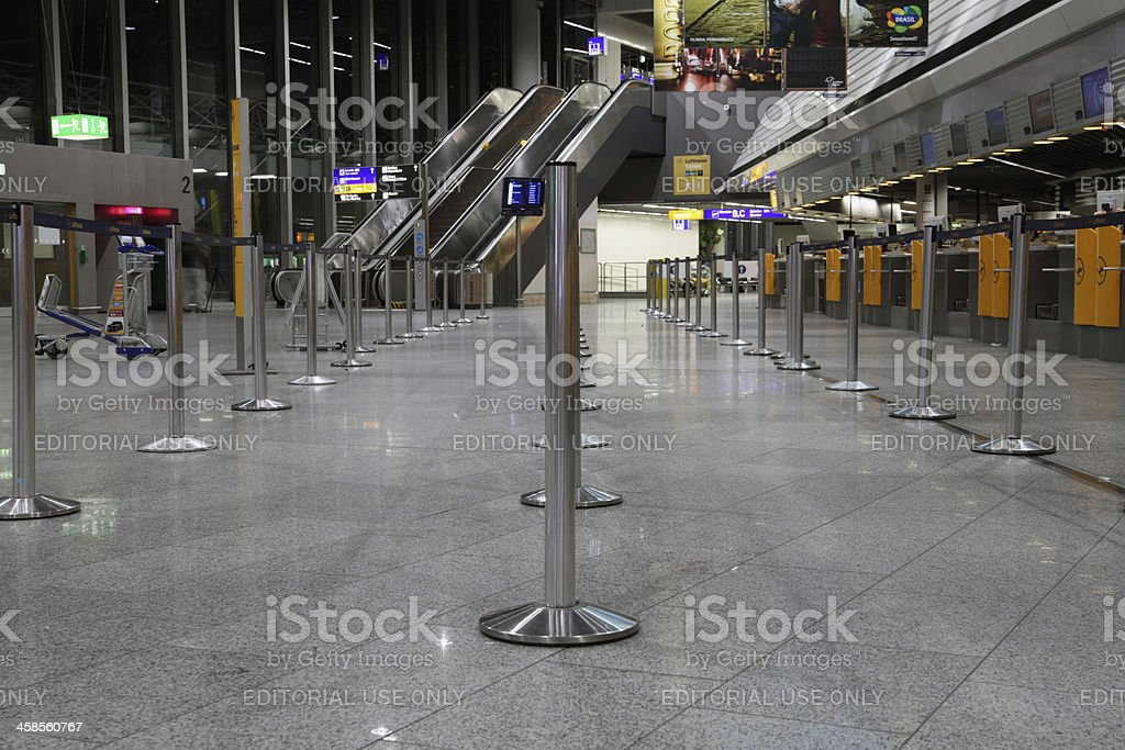 Wide angle shot of airport terminal stock photo