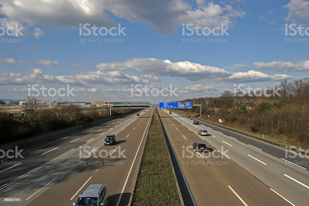 Wide angle shot of freeway royalty-free stock photo