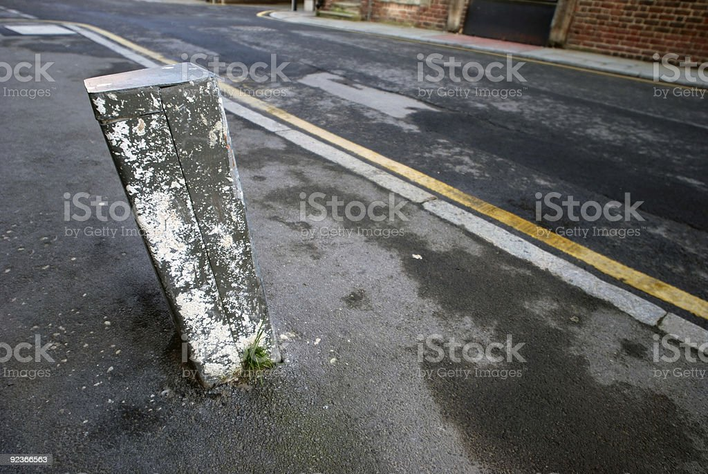 Wide angle street royalty-free stock photo