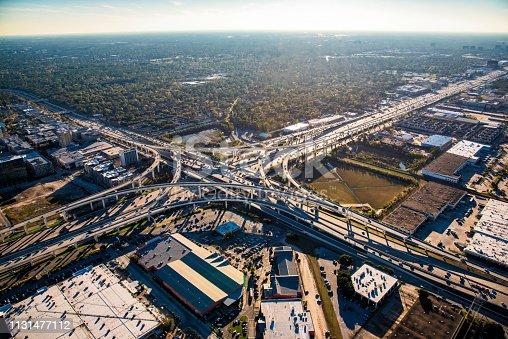 94502198istockphoto Wide Angle View of a Texas Freeway Interchange 1131477112