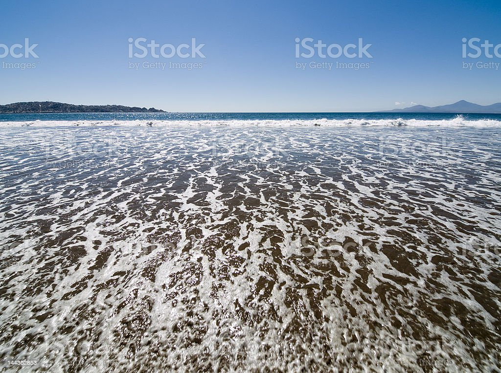 Wide angle view of surf stock photo