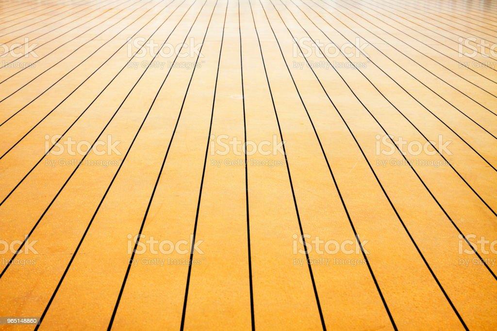 Weitwinkelaufnahme des synthetischen, künstlichen, Nachahmung Holzdielen – Foto