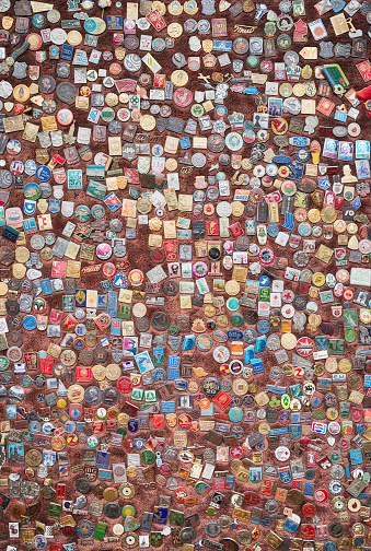 istock Wide array of kinds of badges dating from old times 528563189