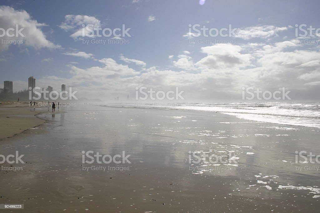 wide beach royalty-free stock photo