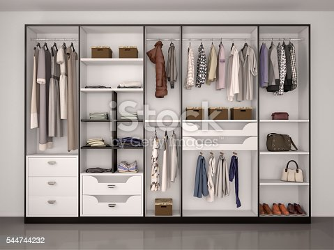 istock wide closet with a large window, 544744232